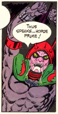 Horde Prime, as illustrated in the UK comics.