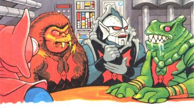 Hordak reveals his latest plan to his warriors.