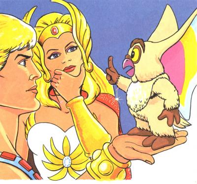 Kowl advises He-Man and She-Ra.