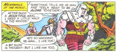 Ram Man leaves He-Man and Teela to be alone.