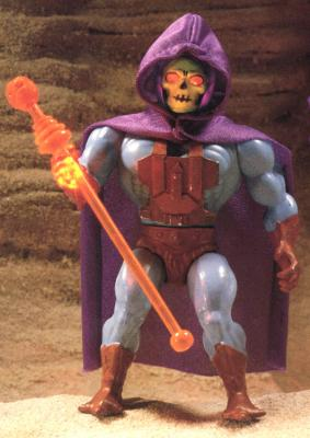 The prototype of the Laser Light Skeletor figure.