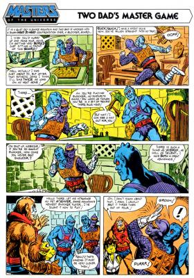 Beast Man introduces Two Bad and Webstor M'Yower.