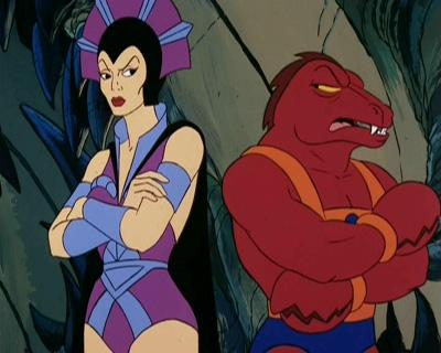 Evil-Lyn and Clawful get up-close and personal.