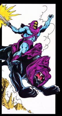 Panthor with panther-black skin and a Battle Cat-like helmet.