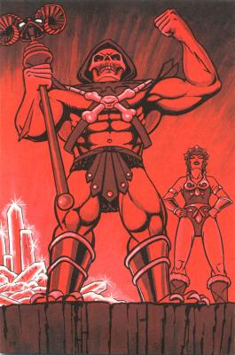 An iridescent red glow surrounds Skeletor and Evil-Lyn.