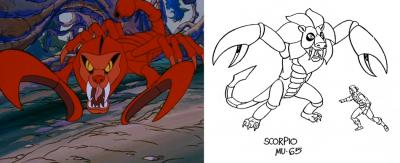 A comparison of the original and final design of Scorpio.