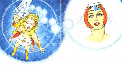 She-Ra uses the Sword of Protection to summon the Sorceress.
