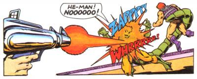 He-Man shoots Whiplash.