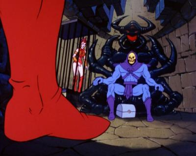 Skeletor's sits upon a new throne.