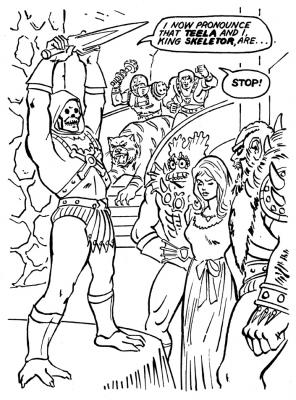Skeletor prepares to marry Teela.