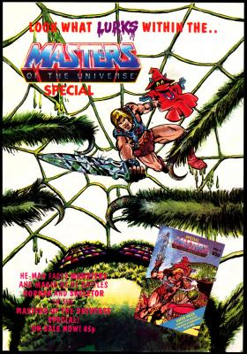 An advert for the UK Masters of the Universe comic special.