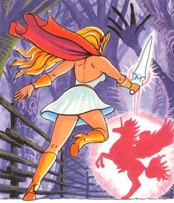 She-Ra transforms Spirit to Swift Wind.