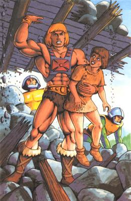 He-Man heroically saves the day.