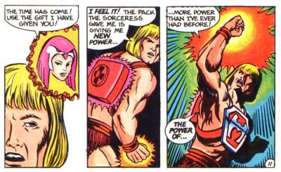 He-Man is bestowed with the power of the Thunder Punch.