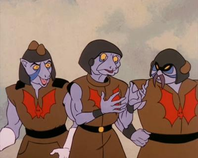 Ferros, Repta, and Rachney on Eternia.