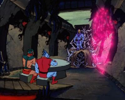"Skeletor's throne room as it appeared in ""The Time Corridor""."