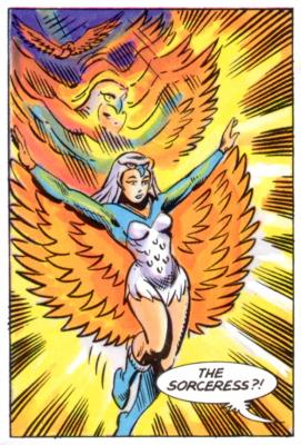 Bruce Timm's illustration of the Sorceress.