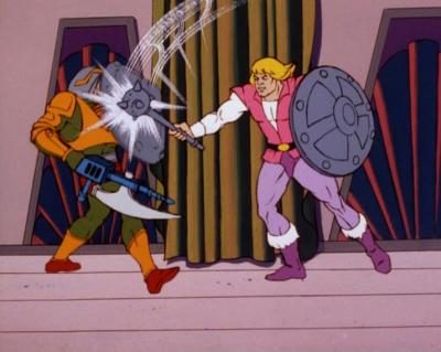Prince Adam attacks Man-At-Arms.