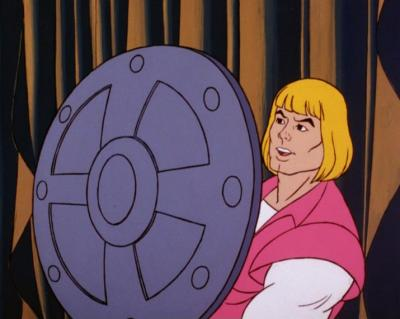 Prince Adam defends himself from Man-At-Arms.