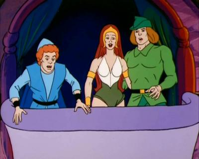 "Sibyline and David from the He-Man series appear in ""The Red Knight""."
