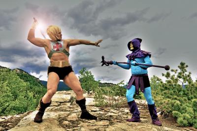 Spencer Voykin as He-Man Vs. Clay Stooshnoff as Skeletor!